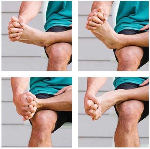 stretching ai piedi